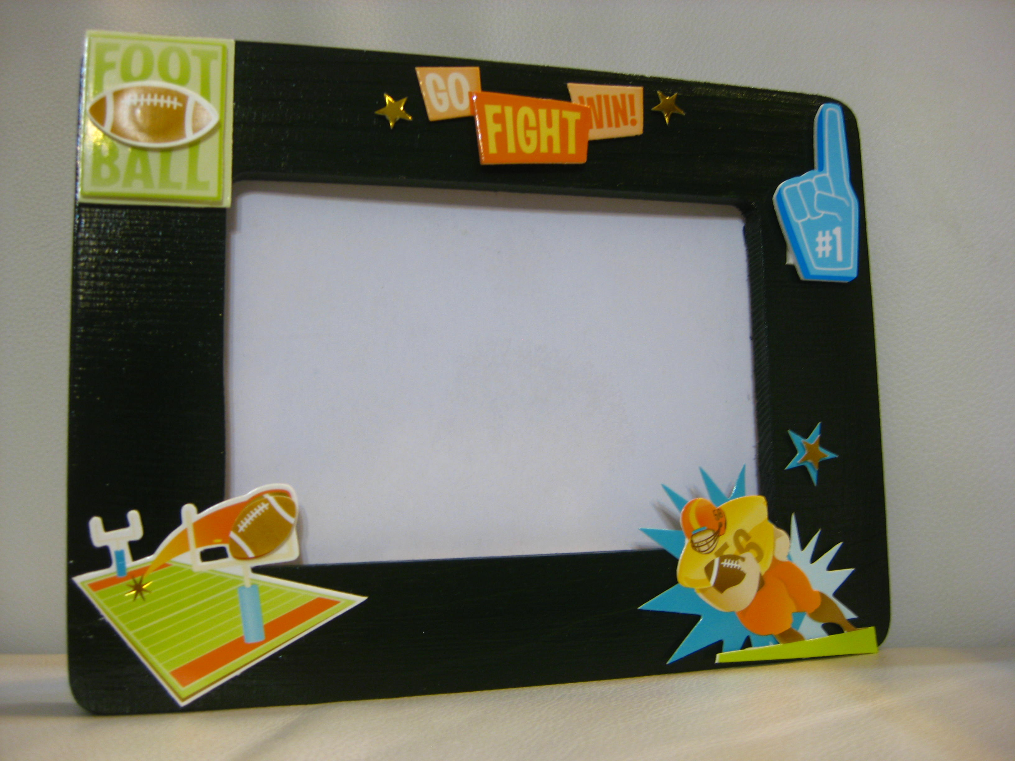 nowadays i love making frames it was all started when i saw a nice set of rugby football stickers at one of the art craft store