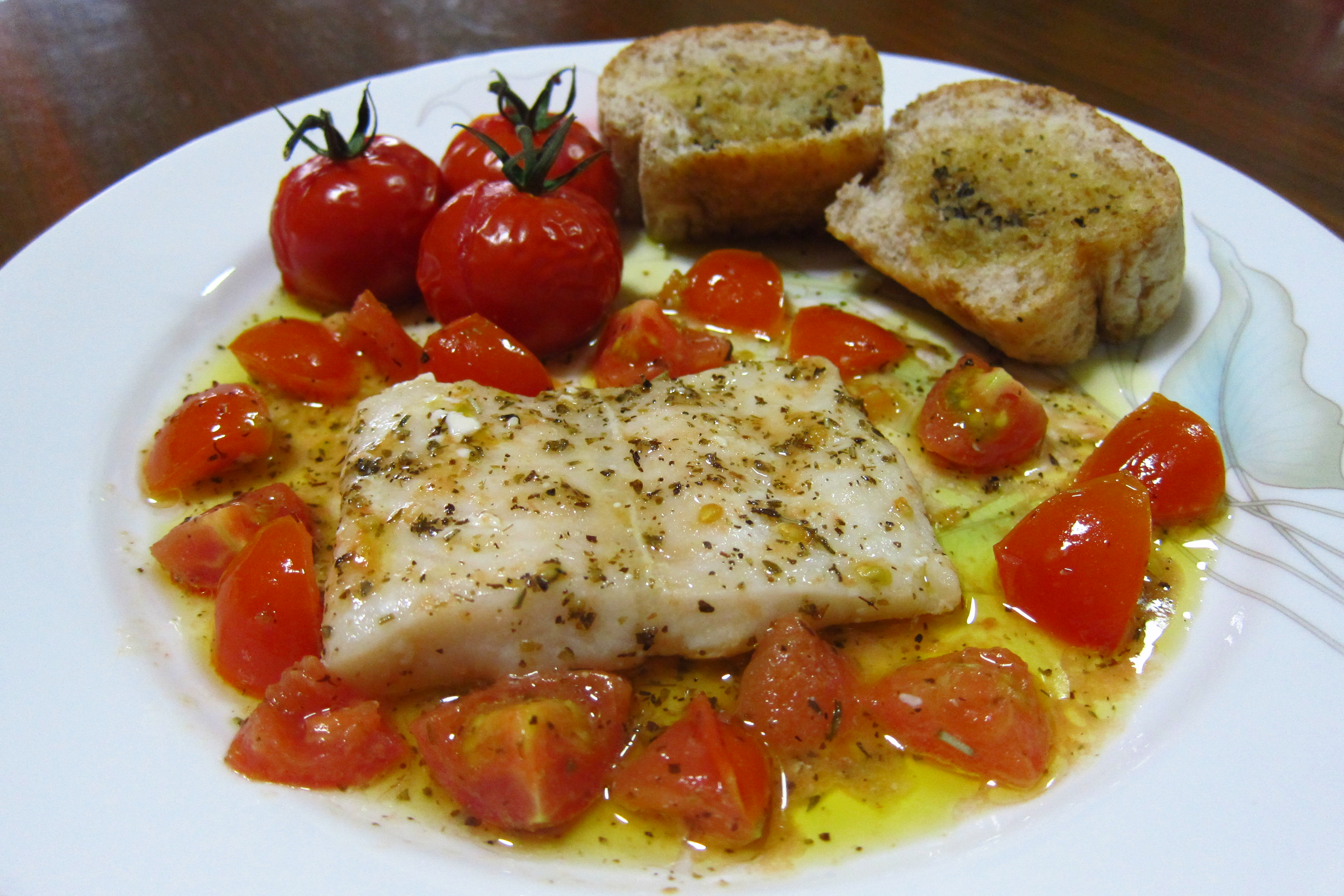Cod Sauteed In Olive Oil With Fresh Tomatoes Recipe — Dishmaps